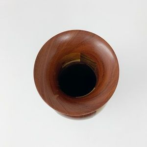 Hand Crafted Accents - Beautiful segmented multi-wood lathe turned vase